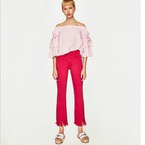 Zara boho high waisted pants size 6